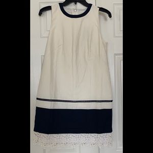 Loft sleeveless shift dress, size 0 petite, NWT.